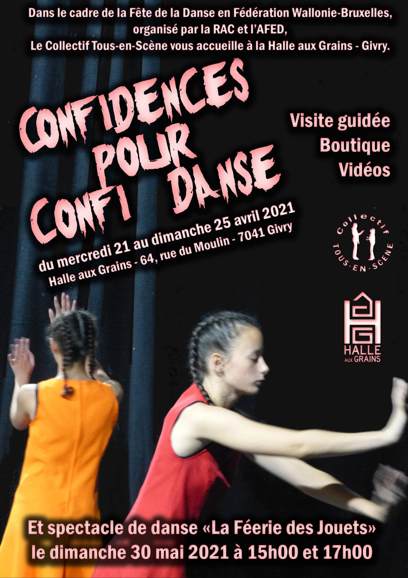 Affiche confidences pour confi danse