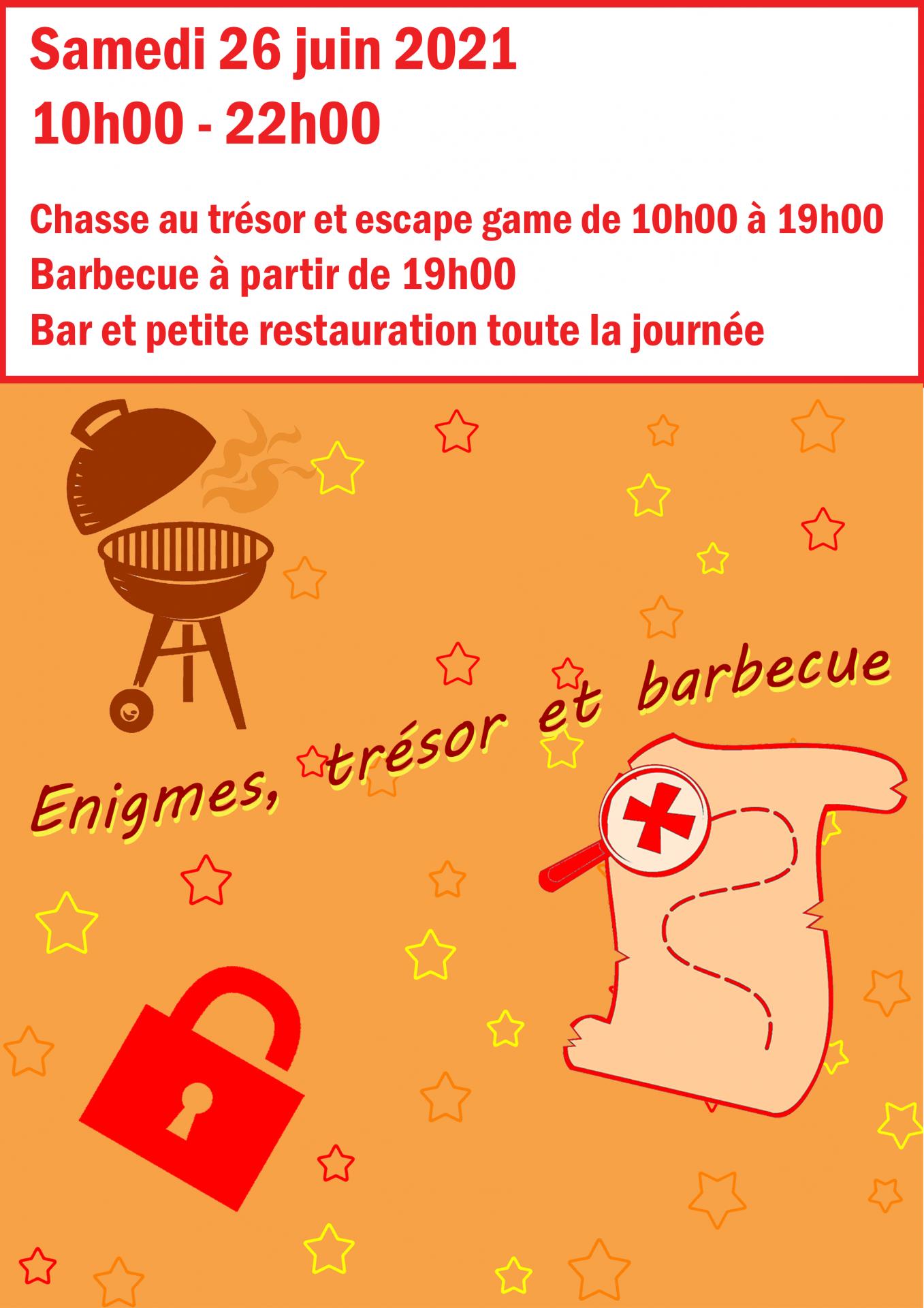 Enigmes, trésor et barbecue