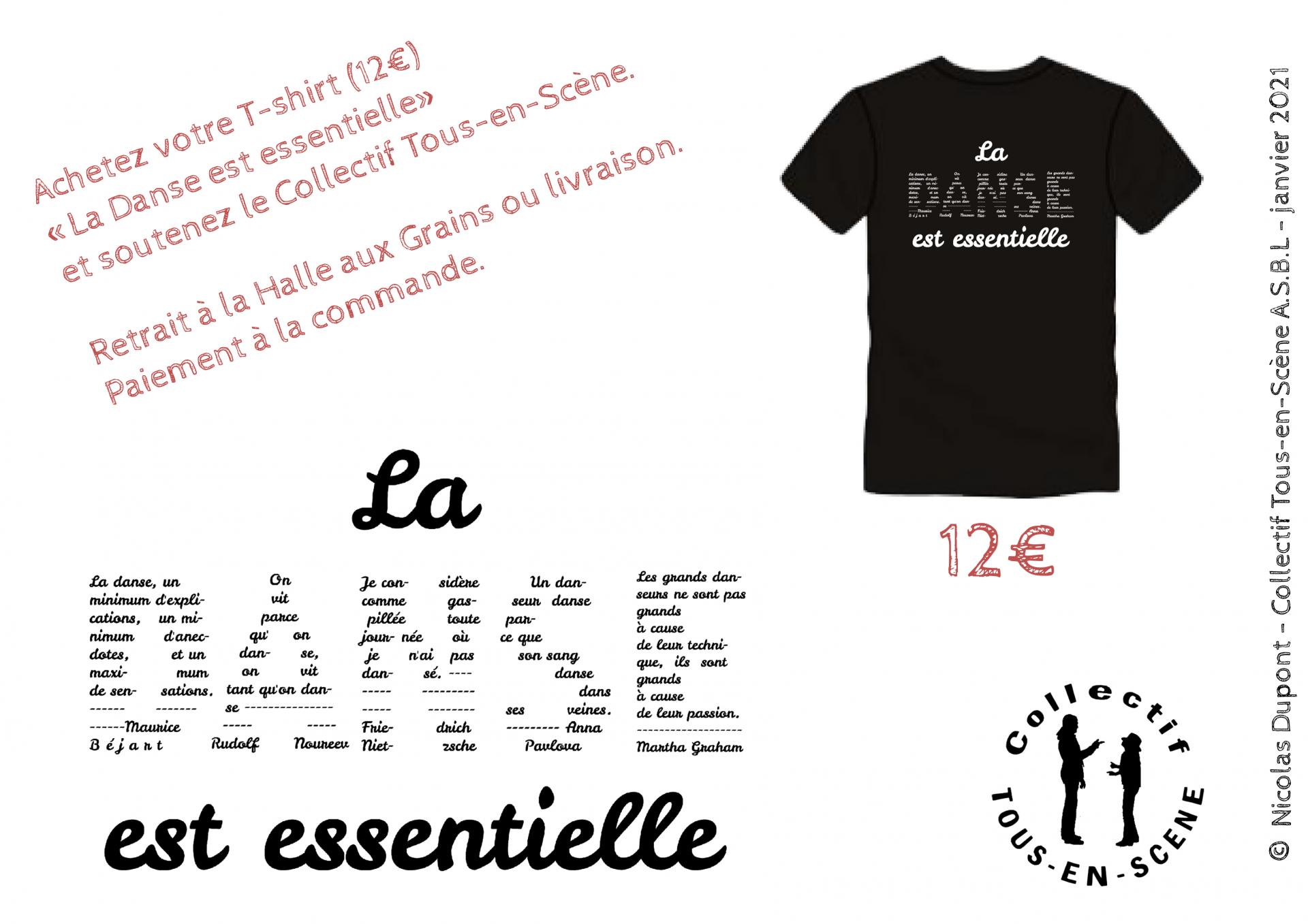 T-shirts La danse est essentielle